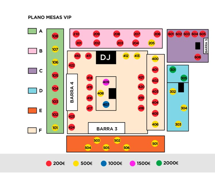 Opium Madrid Floor Plan