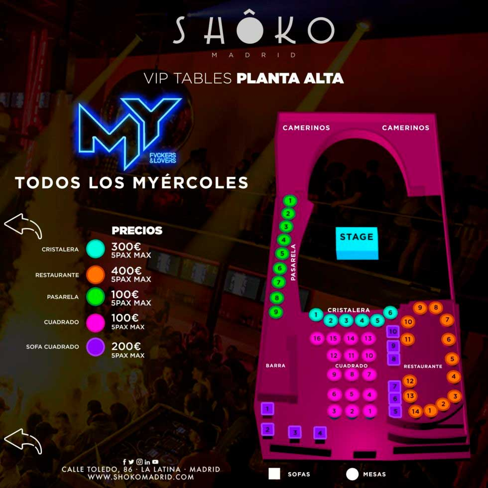 Shoko Wednesdays - Tables Planta Alta