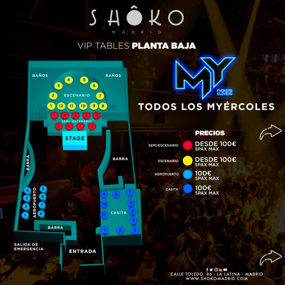 Shoko Wednesdays - Tables Planta Baja