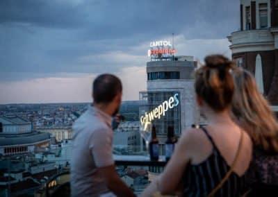 Ella Sky Bar Madrid - Night View