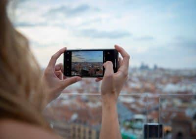 Ella Sky Bar Madrid - View